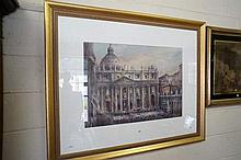 Watercolour, major work, Vatican Rome by AA Prout