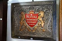Wooden carved & gilded Royal Insurance Co sign