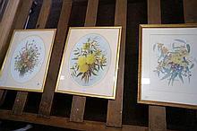 3 Dasiy Wood still life floral prints