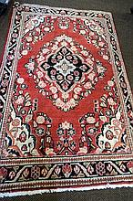 Moshgabad woollen rug from Southern Iran c1910 200