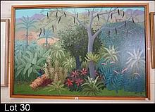 Large oil painting, Kuranda & beyond 2005 by Anne