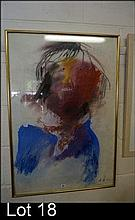 Pastel portrait by AH c1968