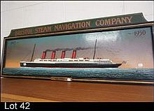 Carved wooden Bristol Steamship Co sign 1913-1950