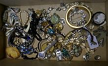 cameo brooch, 4 Ladies watches & assorted costume jewellery