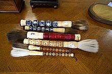 6 Japanese brushes