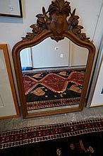 French carved oak mirror