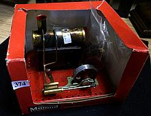 Mamod steam stationary engine in box