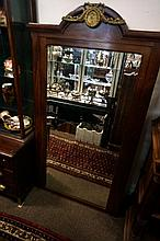 Antique Frnech mah ormolu mounted overmantle mirror, 171 x 95