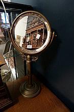 Edw brass table mirror