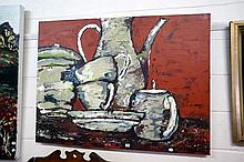 Large acrylic on canvas Kitchen, by Sue Harrington
