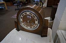 1930's Oak cased mantle clock