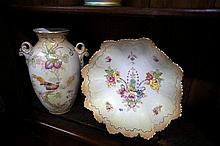 Edw C/Devon blush ivory vase & bowl