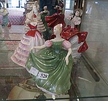 3 R/Doulton figures, Susan, Michele & Cheryl