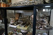 Large collection of assorted EP ware & cutlery