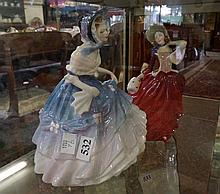 2 R/Doulton figures, Alice & Autumn Breezes