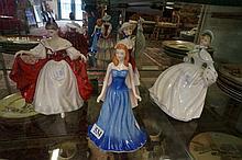 4 R/Doulton figures, Sara, september Sapphire, Eliza & Jessica