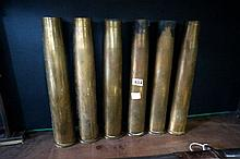 6 40 mm brass shell cases