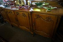 French carved oak large 2.5m x 600 sideboard