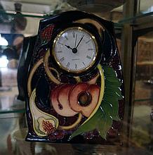 Moorcroft Queens choice 22cm clock
