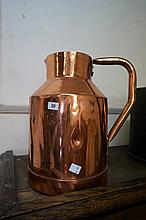 Large early C20th copper jug