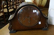 Westminster chime oak mantle clock