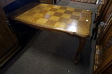French oak Parquetry top coffee table
