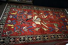 Armanian rug from border of Iran & Armania c1930's 284 x 159