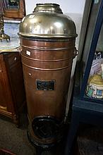 Antique copper hot water tank