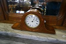 Edw inlaid mah mantle clock