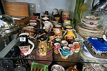 Large collection of English character jugs