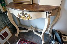 Early C19th French painted console table