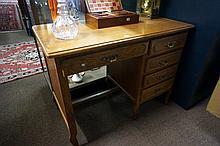 French oak desk 102 cm wide