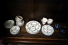 R/Doulton York town dinner set for 6 & Johnson Bros jug & bowl