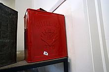 Vintage Shell red petrol can