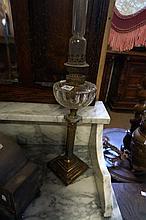 Vic small cut glass kero lamp