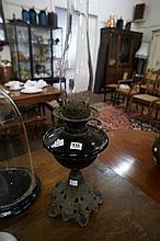 Vic double burner amethyst glass kero lamp