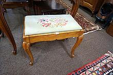 French oak tapestry stool