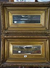 Arthur Suker 1857-1902, pr C19th gilt framed oil p