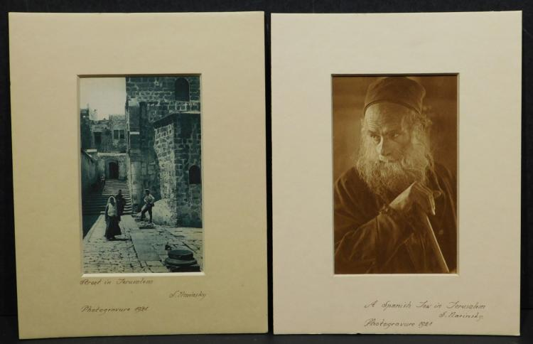 S. Narinski: Jerusalem, Pair of 1921 Photogravures