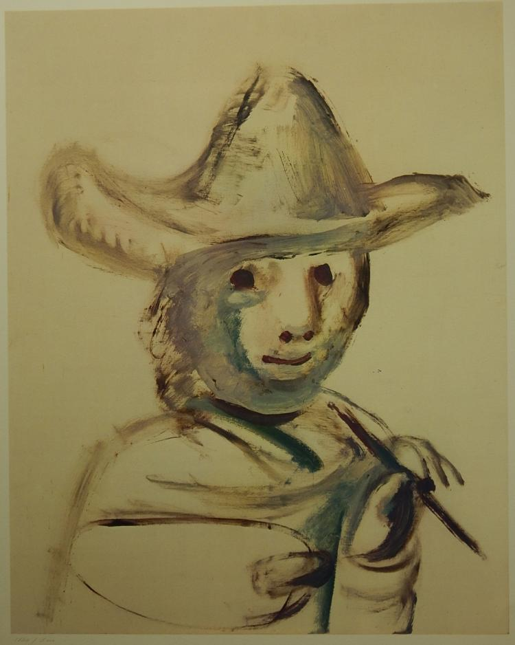 Pablo Picasso (After): The Young Painter 1972, Lithograph