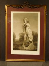 19th Century Engraving in a French Decorated Frame