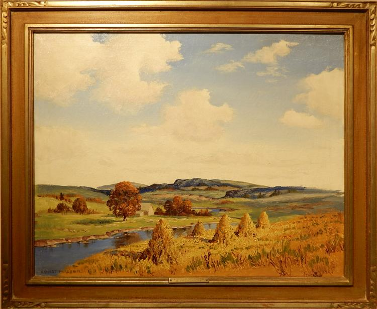 Ernest Fredericks: Summer Splendor Oil Painting
