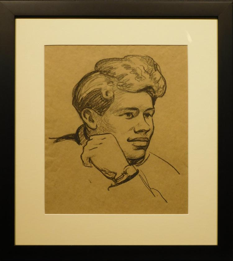 Portrait of a Young Man, Charcoal Drawing