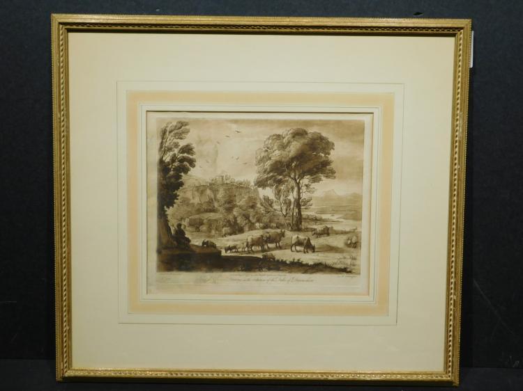 Richard Earlam, After Claude le Lorrain, Devonshire Engraving 1775