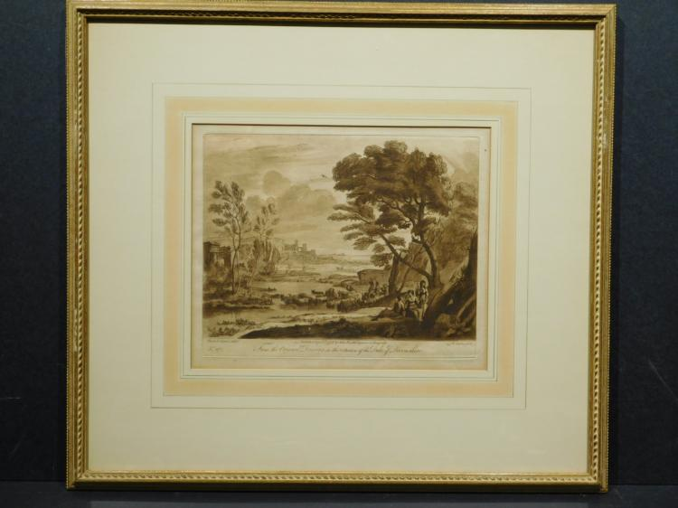 Richard Earlam,, After Claude le Lorrain, Devonshire Engraving 1775
