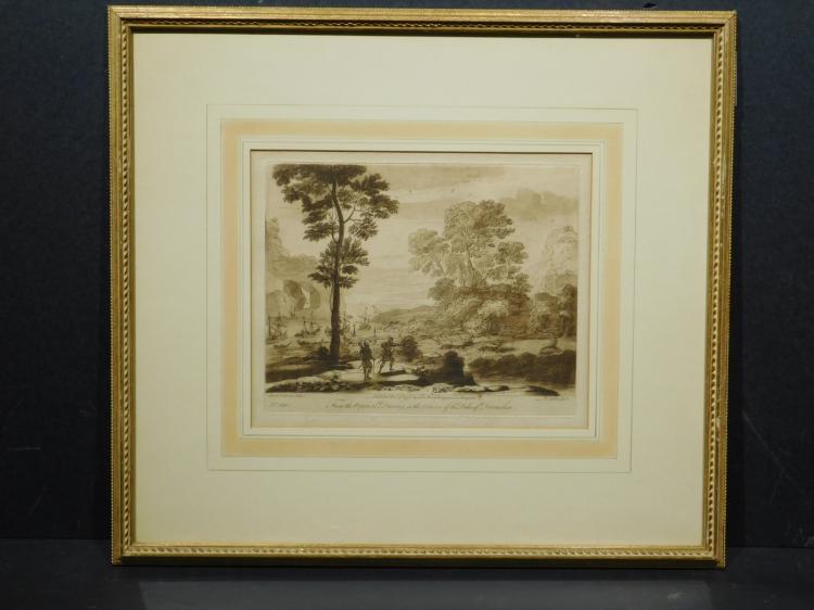 Richard Earlam, After Claude le Lorrain, Devonshire Engraving 1776