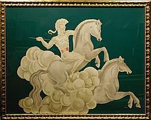 Benjamin Jorj Harris: Trojan Soldier And Horses, c.1940