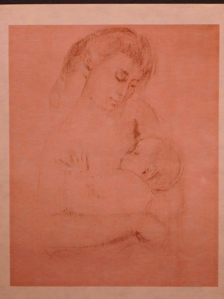 Edna Hibel:  Mother And Child, #6, 1965 Lithograph