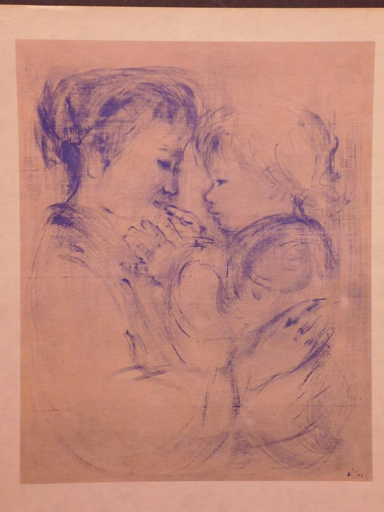 Edna Hibel:  Mother And Child,#7, 1965 Lithograph