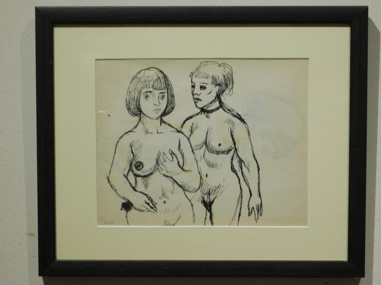 G.J.Rogers: Two Women, Nude Figure Drawing, 1959